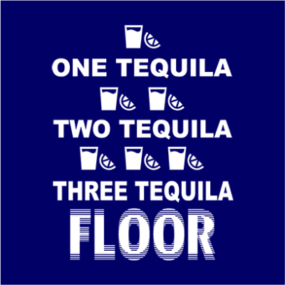 one tequila two tequila navy square