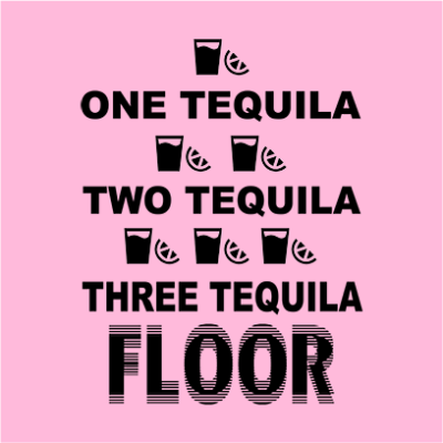 one tequila two tequila pink square