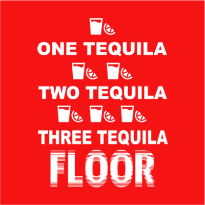 one tequila two tequila red square