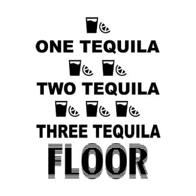 one tequila two tequila white square