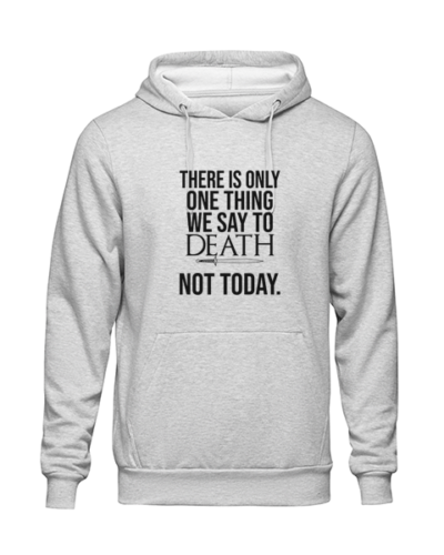 one thing we say to death Grey Hoodie