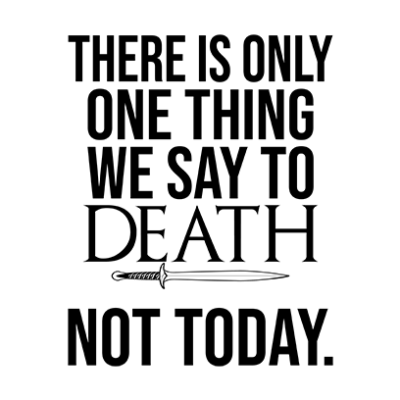 one thing we say to death white square