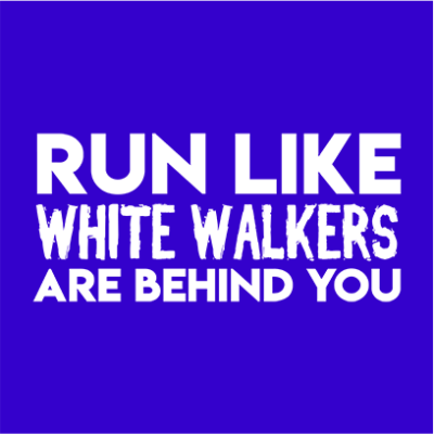 run like white walkers blue square