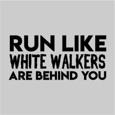 run like white walkers grey square