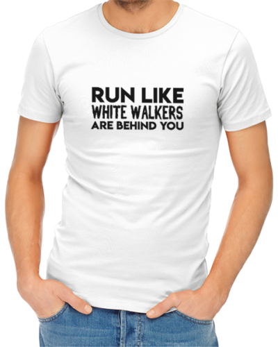 run like white walkers mens tshirt white