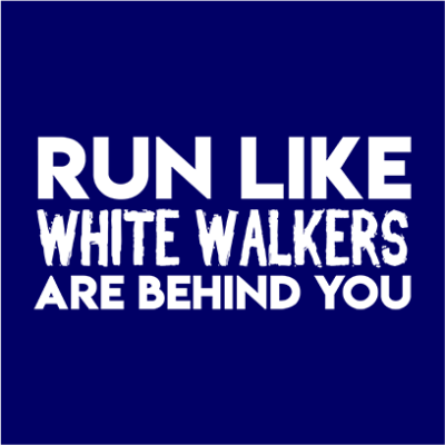 run like white walkers navy square