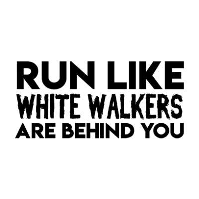 run like white walkers white square