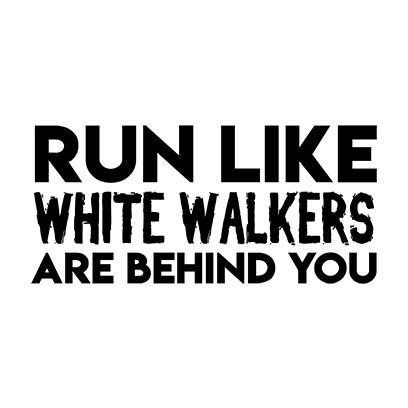 run like white walkers white square