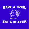 save a tree blue square
