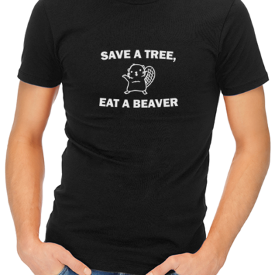 save a tree mens tshirt black