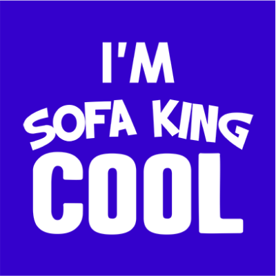sofa king cool blue square