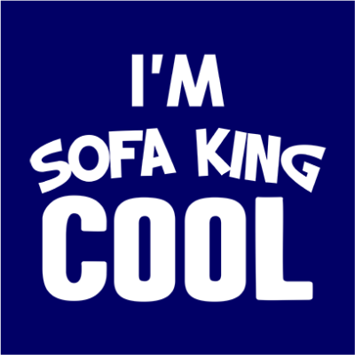 sofa king cool navy square