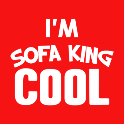 sofa king cool red square