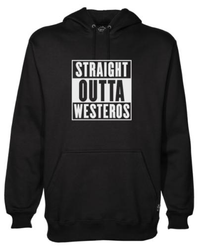 straight outta westeros Black Hoodie