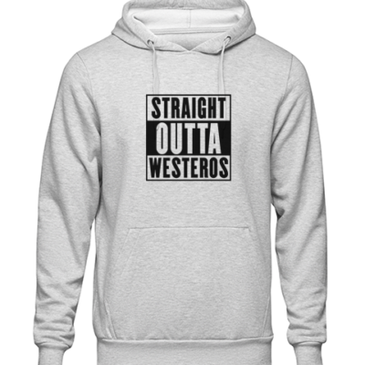 straight outta westeros Grey Hoodie