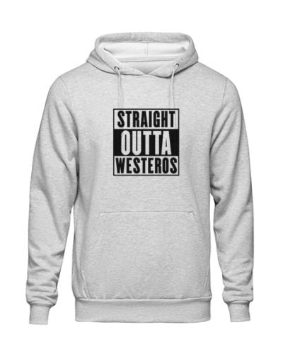 straight outta westeros Grey Hoodie