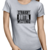 straight outta westeros ladies tshirt grey