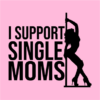 support single moms pink square