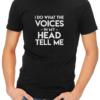 the voices mens tshirt black