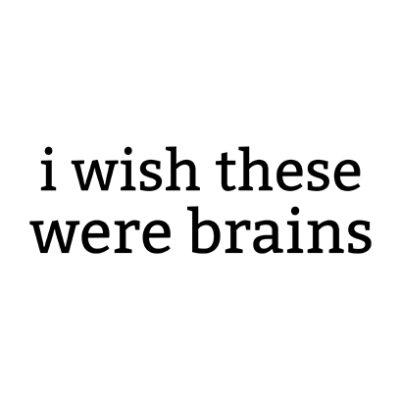 wish these were brains white square