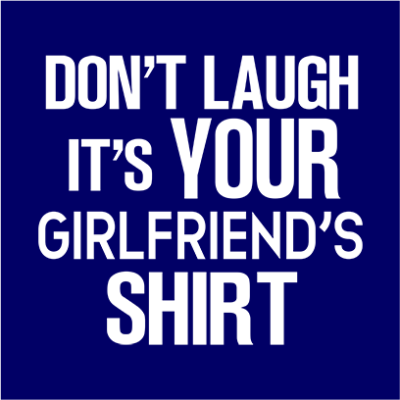 your girlfriends shirt navy square
