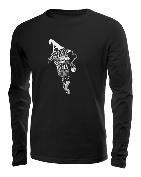 a wizard is never late long sleeve black