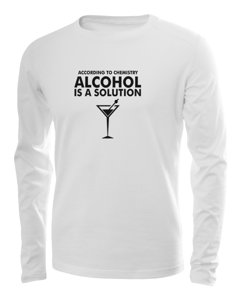 according to chemistry long sleeve white