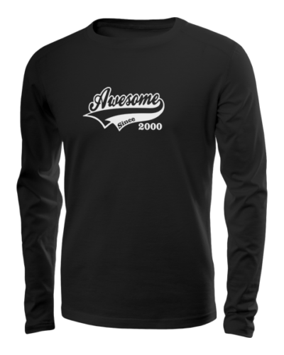 awesome since long sleeve black