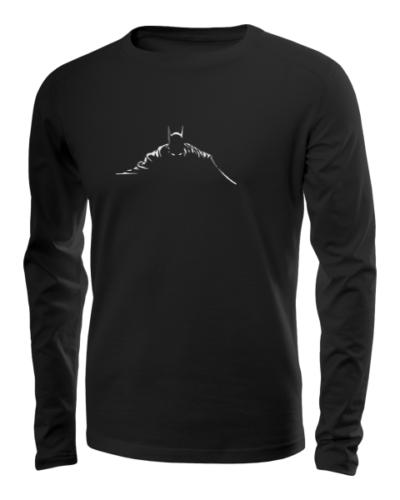batman silhouette long sleeve black