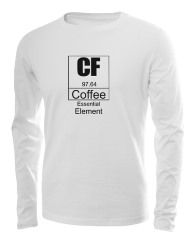 coffee essential element long sleeve white