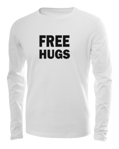 free hugs long sleeve white