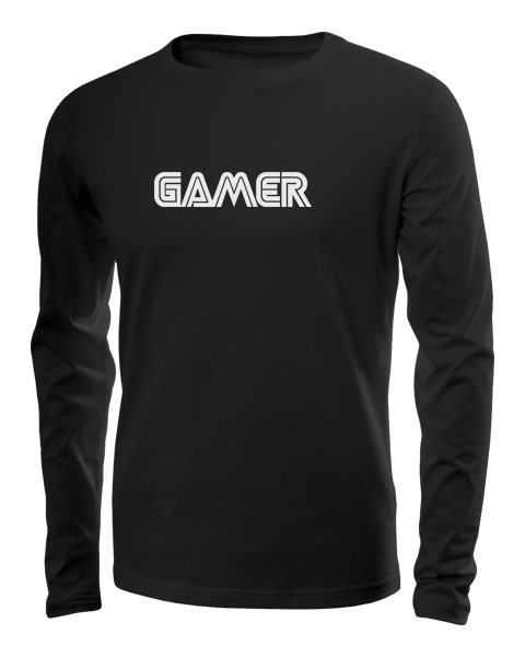 gamer long sleeve black
