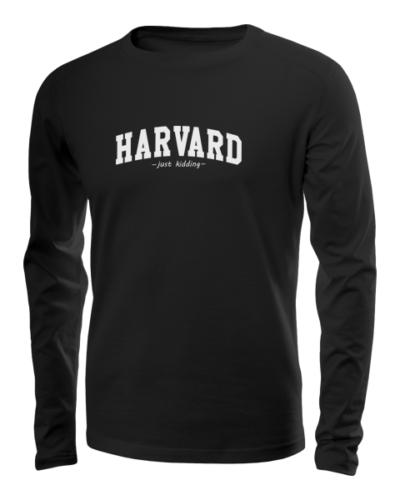 harvard just kidding long sleeve black