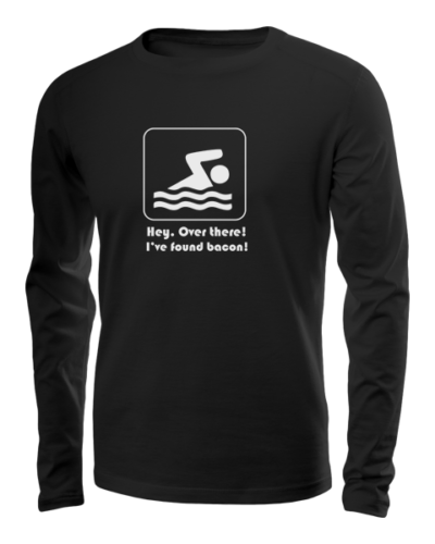 hey over there ive found bacon long sleeve black