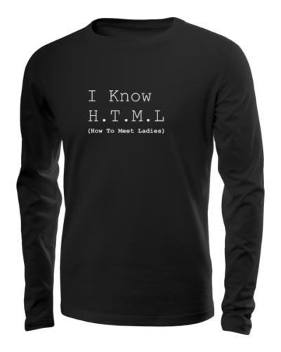 i know html long sleeve black
