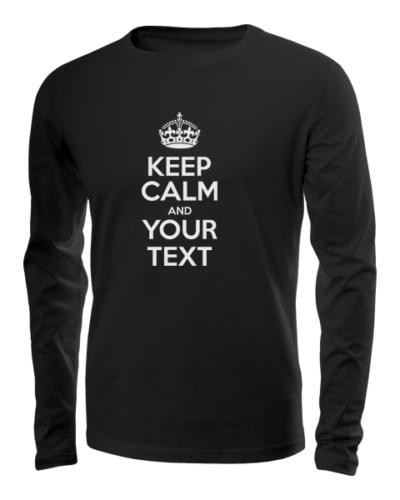 keep calm long sleeve black