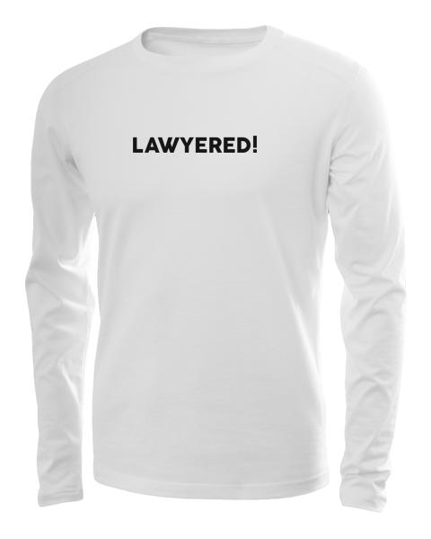 lawyered long sleeve white