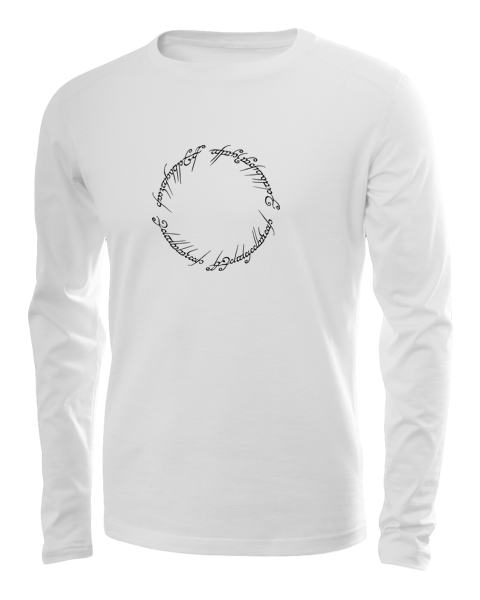 lord of the rings script long sleeve white
