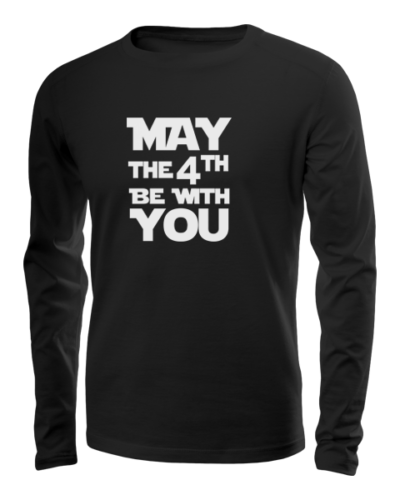 may the 4th long sleeve black