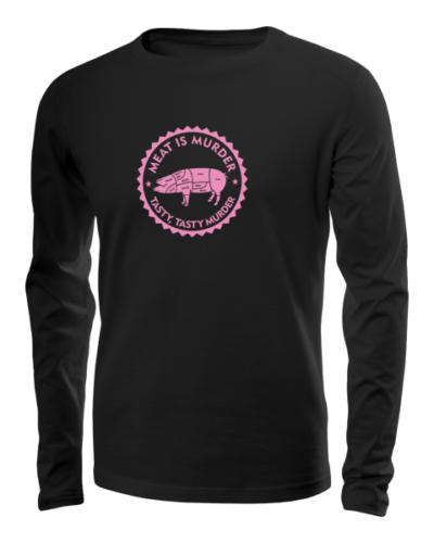 meat is murder long sleeve black