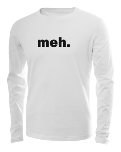 meh long sleeve white