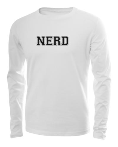 nerd long sleeve white