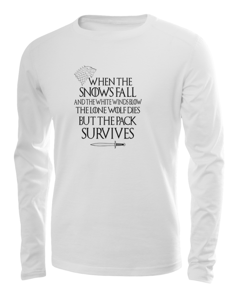 pack survives long sleeve white