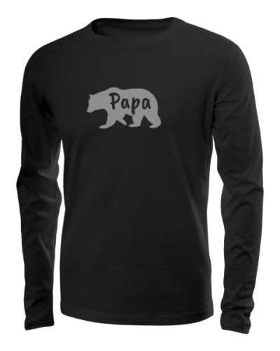 papa bear long sleeve black