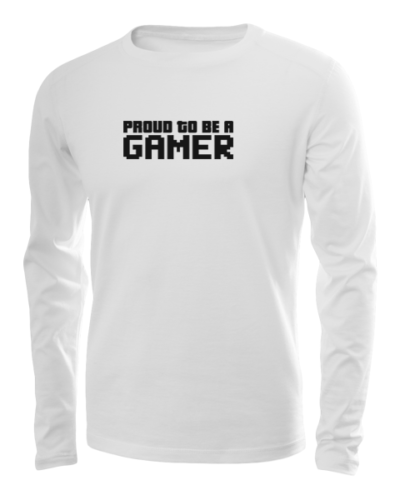 proud to be a gamer long sleeve white