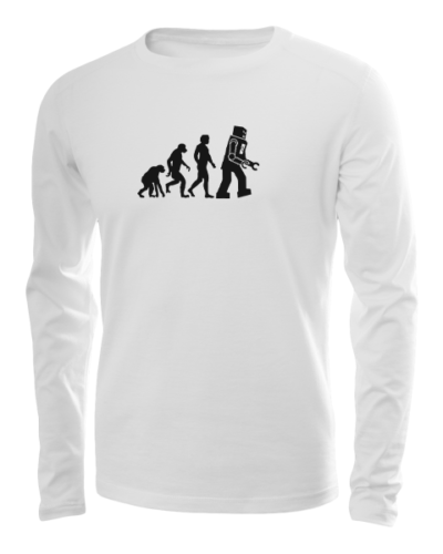 robot evolution long sleeve white