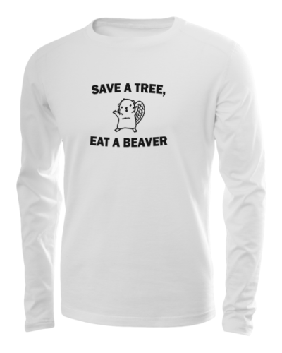 save a tree long sleeve white