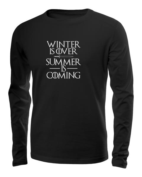 summer is coming long sleeve black