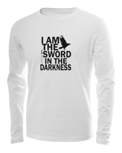 sword in the darkness long sleeve white