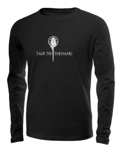 talk to the hand long sleeve black